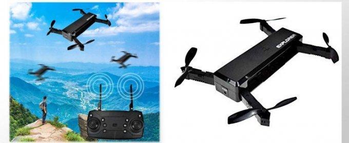 Skladací minidron s HD kamerou a WIFI pripojním.
