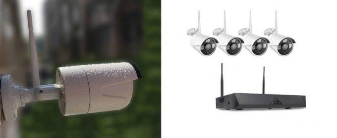 WIFI Bezdrôtová sada bezpečnostná kamera CCTV 4 kanálová.